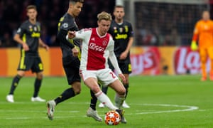 Frenkie de Jong (pictured) will leave Ajax for Barcelona in the summer, and the club's teenage captain Matthijs de Ligt looks likely to join him.