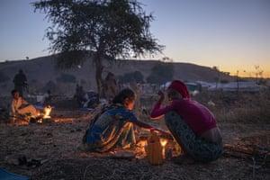 Qadarif, SudanTigrinyan refugee women prepare bread for their family in the Umm Rakouba refugee camp in Qadarif.