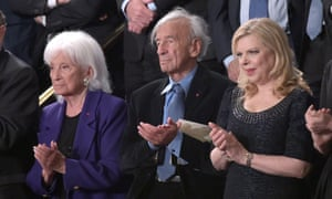 Elie Wiesel at Netanyahu speech