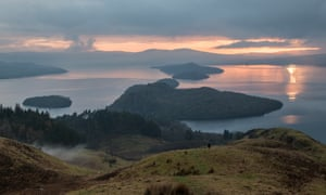 A view from Conic Hill, Loch Lomond, Scotland.