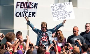 Conservative provocateur Milo Yiannopoulos on the campus of the University of California, Berkeley.