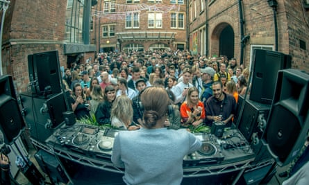 Honey Dijon plays the Secret Courtyard at Wigflex festival, Nottingham.