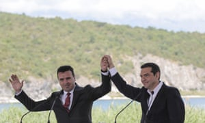 Alexis Tsipras and Zoran Zaev.
