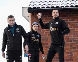 Joselu at Newcastle training.