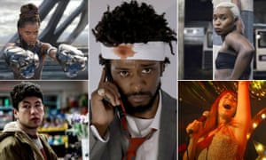 Bafta rising star 2019 nominees clockwise from top left: Letitia Wright in Black Panther; Lakeith Stanfield in Sorry to Bother You; Cynthia Erivo in Widows; Jessie Buckley in Wild Rose; Barry Keoghan in American Animals.