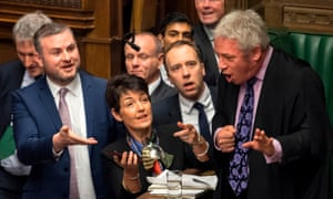MPs urge the speaker, John Bercow, right, to watch video footage of the Labour leader, Jeremy Corbyn, supposedly muttering a sexist remark during prime minister's questions.