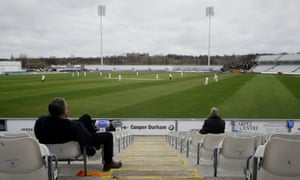 A sparse crowd watches Durham take on Durham UCCE at the Riverside.