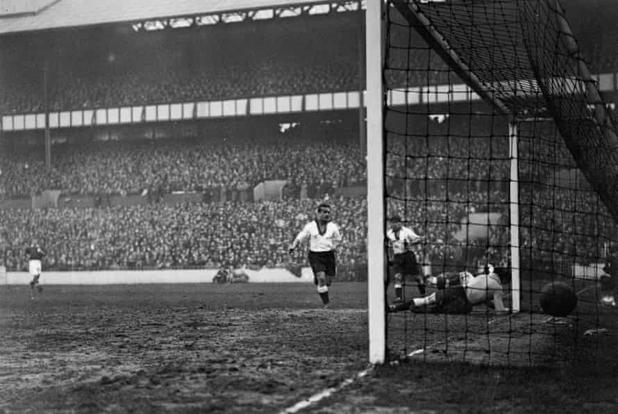 George Camsell opens the scoring for England, who went on to win 3-0.