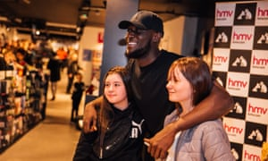 Young fans meet Stormzy at HMV Cardiff, 7 January 2020.