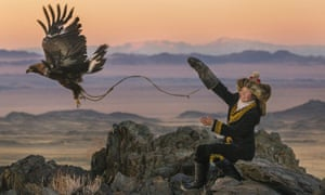 Aisholpan Nurgaiv in a still from film The Eagle Huntress