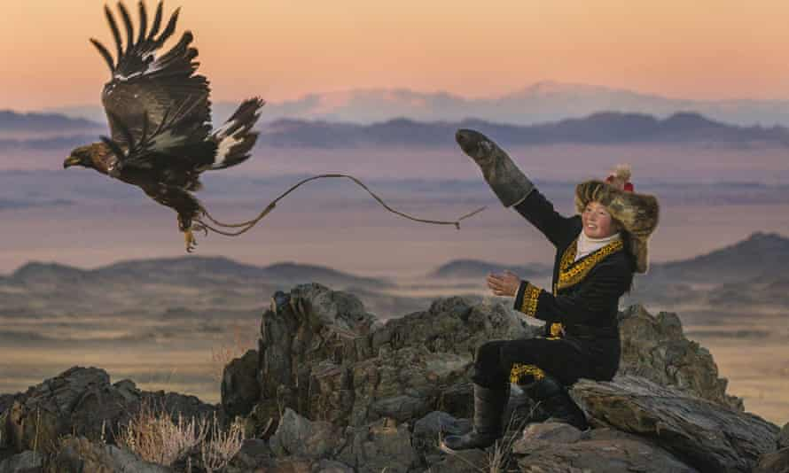 PIcture perfect … Aisholpan Nurgaiv in The Eagle Huntress.