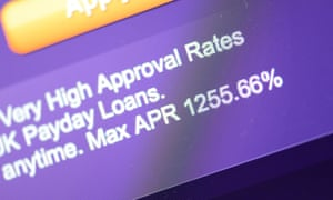 Screen shots of payday loans with very high APR rates