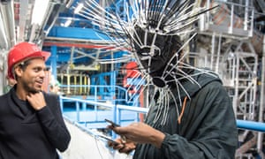 Collision course … Haroon Mirza, left, and Gaika at Cern; their work, called The Wave Epoch, will be at the Brighton festival.