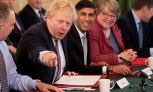 Boris Johnson chairs the first cabinet meeting since his reshuffle