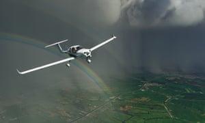 A rainbow over Amsterdam ... flight simulator