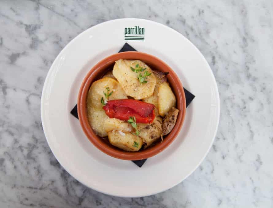 Patatas panadera, at Parillan.