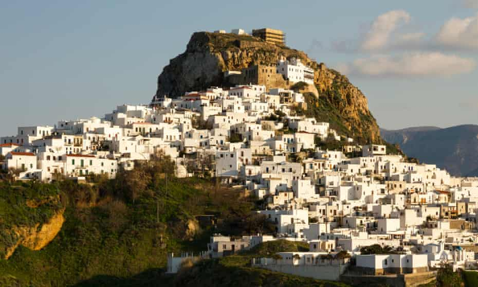 Chora, the main settlement and capital of the island of Skyros, in Sporades complex, central Aegean sea, Greece