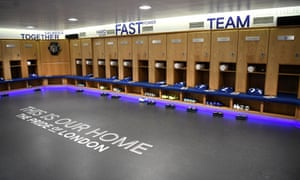 The Chelsea changing room at Stamford Bridge