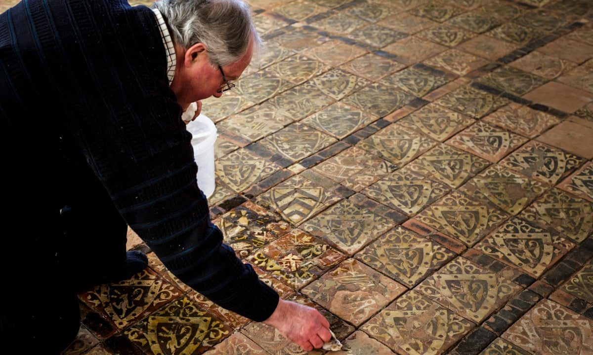 Rare Medieval Tiled Floor Goes On Show At Cleeve Abbey In