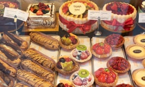 A typical selection of Patisserie Valerie treats.