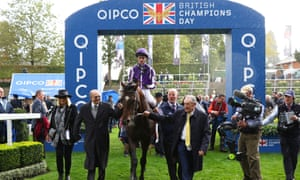 Donnacha O'Brien returns after winning the Qipco British Champions Long Distance Cup on Kew Gardens.