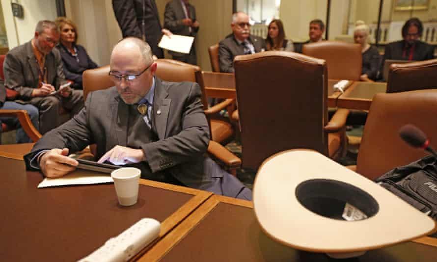 Oklahoma state representative Justin Humphrey, who referred to pregnant women as 'hosts'.