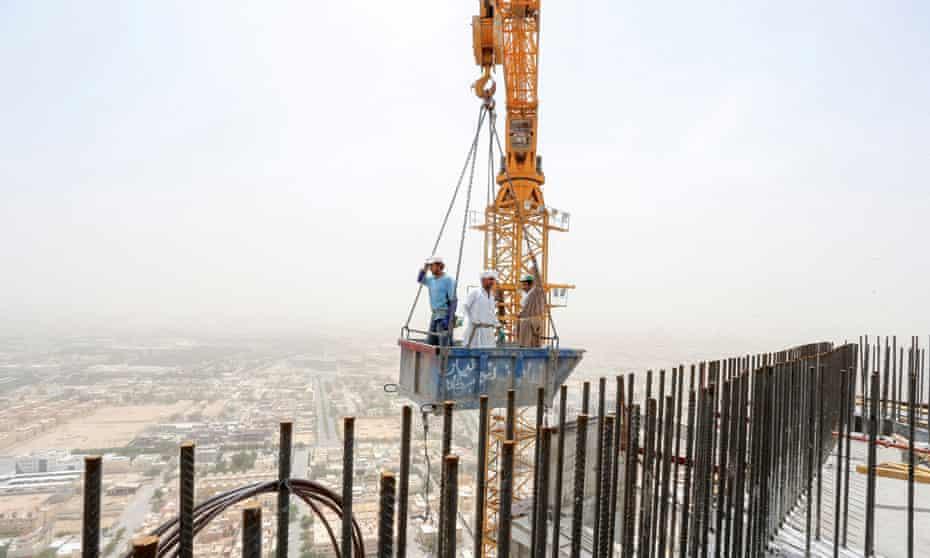 A construction site in Riyadh, Saudi Arabia