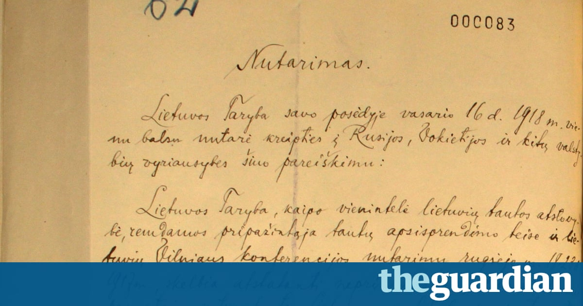 Lithuania finds lost declaration of independence | World news | The Guardian