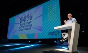Alan Jope of Unilever speaking at a conference in Cannes