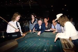 Rolling dice in a casino, 1983