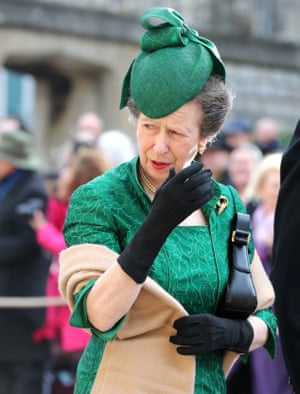 Princess Anne gives a royal wave