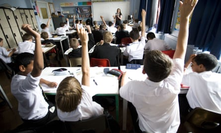 Pupils in a class at Maidstone Grammar School