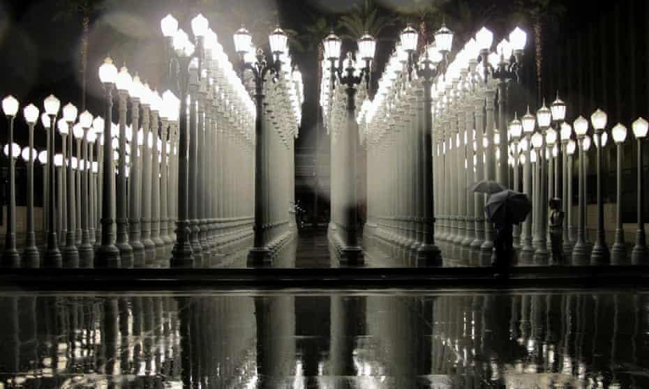 Chris Burden's original Urban Light in Los Angeles