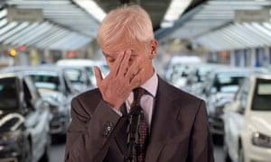 Matthias Mueller, CEO of German car maker Volkswagen, VW