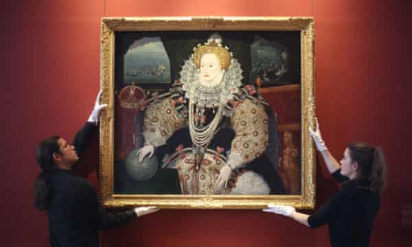 Patriotic confidence ... the Armada Portrait of Elizabeth I.