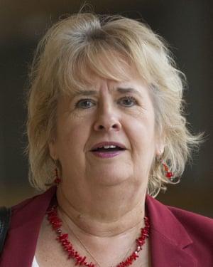 Roseanna Cunningham, the Scottish environment secretary, at the parliament building in Edinburgh.