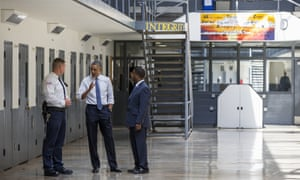 President Barack Obama speaks during a tour of the Federal Correctional Institution in El Reno