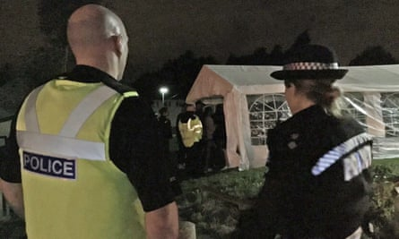 Police are called to a large street party in Northfield, Birmingham,.