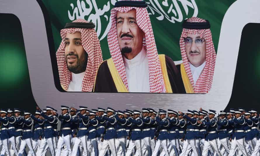 Saudi airforce troops