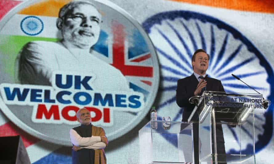David Cameron addresses the Wembley crowd