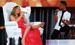 Photograph of Miguel and Mariah Carey