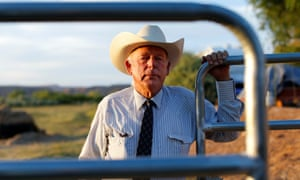 Cliven Bundy stands near a cattle gate on his 160 acre ranch in Bunkerville