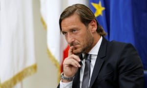 Francesco Totti during a press conference at the Coni Palace in Rome.