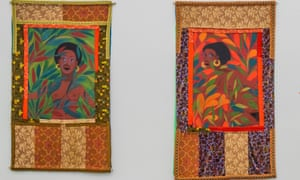 Slave Rape #1: Fear Will Make You Weak; and Slave Rape #2: Run You Might Get Away, both 1972, by Faith Ringgold.