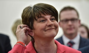 Democratic Unionist party leader Arlene Foster hearing the results on election night.