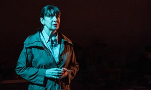 Maureen Beattie in Nuclear War at the Royal Court Theatre Upstairs, London.