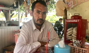 Hassan Ramazan, 41, who has been living in the military building in Kalideres for more than two months.