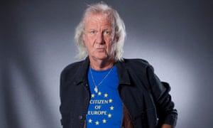 Ed Vulliamy with Europe T-shirt