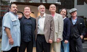 One of the two UB40s, with the Labour leader Jeremy Corbyn, in September 2016.