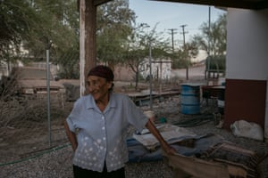 Inocencia Gonzalez, 82, outside of her home. 'Everything has changed, the youngsters can't swim in the river and we've no choice but to fish in polluted water.'